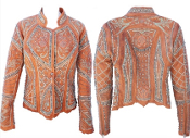 Très Haute Chic celebrity Leather Jacket in cognac